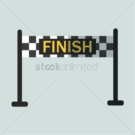 Finish Line Banner Vector Image