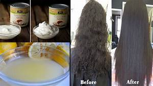 Permanent Hair Straightening With Coconut Milk And Lemon