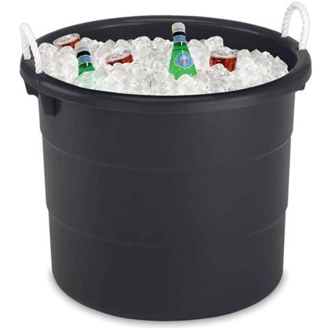 tubs at walmart homz 17 gallon rope handled storage tub black walmart