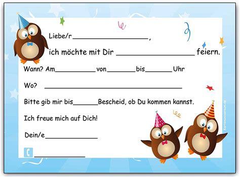 einladungskarten geburtstag kinder einladungskarten