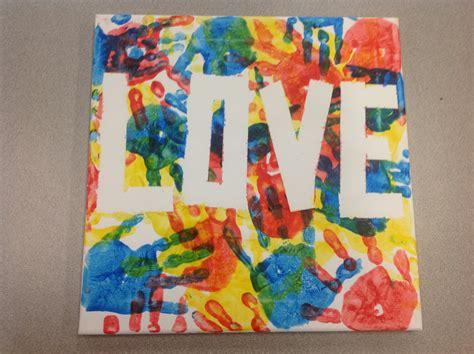 craft ideas on canvas canvas made with painters and blue yellow 3928