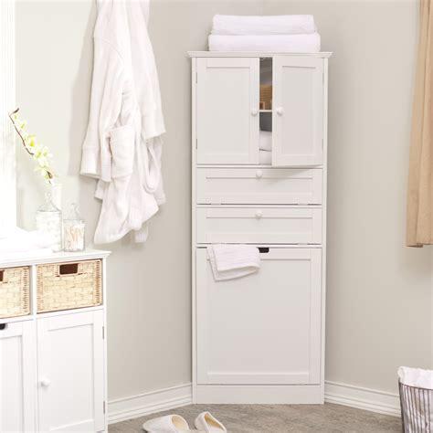 corner bathroom linen cabinet corner linen tower with her white at hayneedle