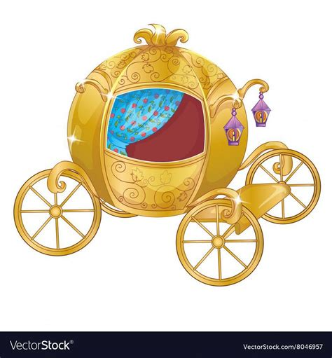 gold carriage  cinderella royalty  vector image