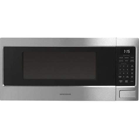 monogram  cu ft mid size microwave blackstainless steel zemsjss  buy countertop