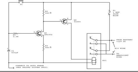 Circuit Diagram Automatic Headlight Schematic Board
