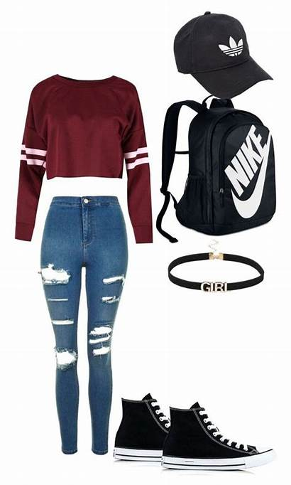 Clothes Polyvore Clothing Outfits Nike Teen Teenage