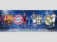 BarcelonaBayern and JuventusReal Madrid, the Champions
