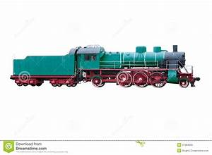 Steam Engine Train Side View Old steam locomotive royalty ...