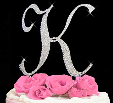 letter  cake topper