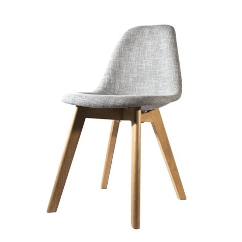 chaise grise but chaise scandinave en tissu grise achat vente chaise