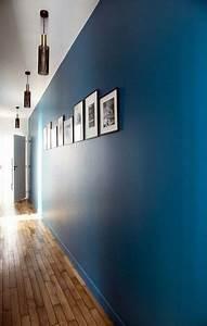 caroline desert decoratrice interieur couloir bleu vintage With idee couleur couloir entree 10 deco chambre bleu decoration chambre bleu et orange