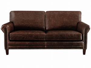 canapes et fauteuils en cuir vieilli cassandra chocolat With canapé en cuir vieilli