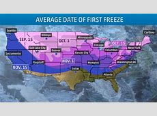 A Handy Guide to When Your First Freeze Typically Arrives