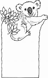 Koala Coloring Bear Koalas Tree Printable Bears Sad Drawing Colouring Cartoon Animal Popular sketch template