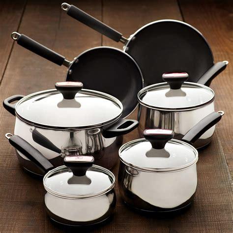 12 Piece Nonstick Cookware Set Stainless Steel Aluminum