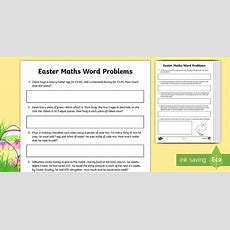 Year 4 Easter Themed Maths Word Problems Worksheet  Worksheets  Ks2, Y4