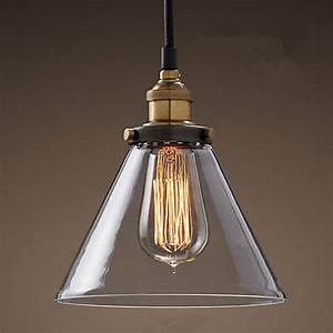 Retro lamps glass pendant vintage hanging light