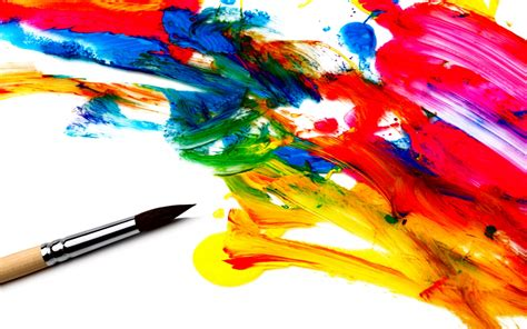 Abstract Paint Brush Wallpaper Pc #7482 Wallpaper