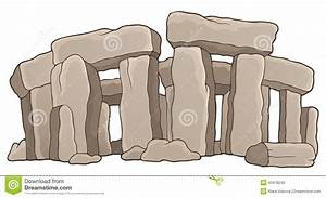 Ancient Stone Monument Theme 1 Stock Vector - Image: 43478240