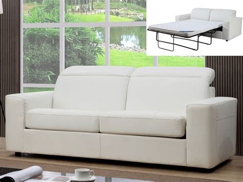 canap convertible relax canapé relax convertible 3 places simili camus ii blanc