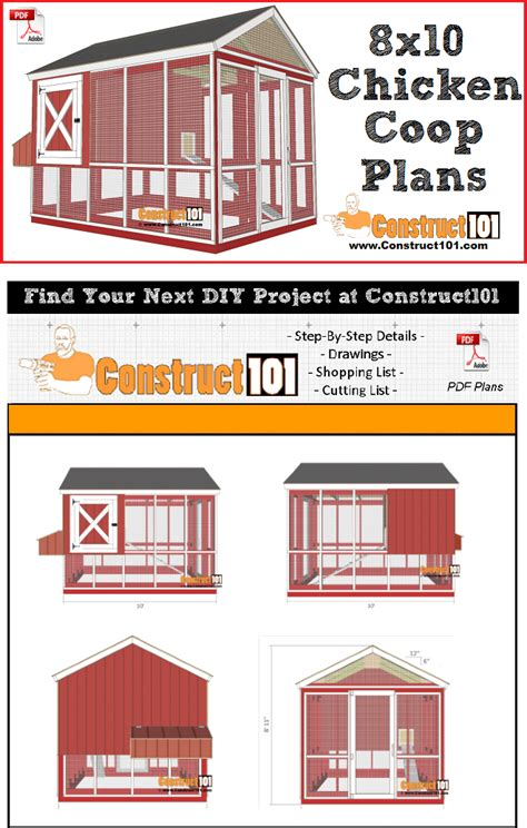 chicken coop plans gable roof