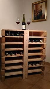 Bar En Bois : bar vin en bois de palette recycl cr ations en bois ~ Teatrodelosmanantiales.com Idées de Décoration