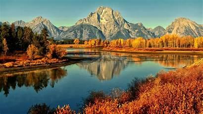 Desktop Scenery Mountain Lake Fall Morning Scenes