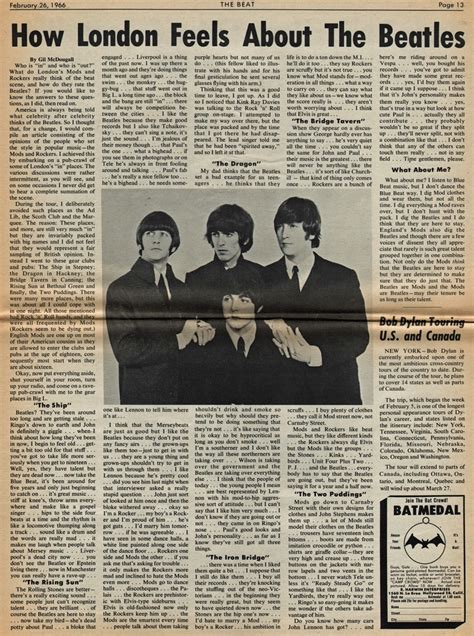 Beatles Newspaper Clippings  Part 1  The Beatles