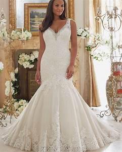 vestido de noiva plus size 2017 simple ivory sexy lace With plus size sexy wedding dresses