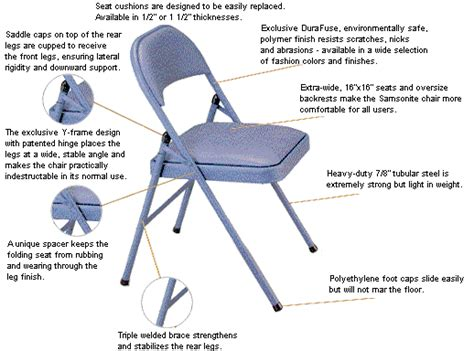 Meco Samsonite Folding Chairs by Meco Folding Chairs Dansanna International