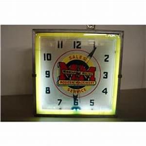 1950's Minneapolis Moline neon clock