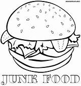 Junk Food Coloring Pages Print Colorings sketch template