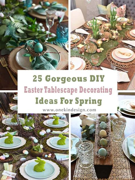 gorgeous diy easter tablescape decorating ideas  spring