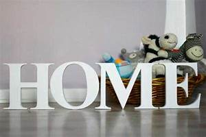 personalizing interior decorating with diy wooden letters With home decor letters