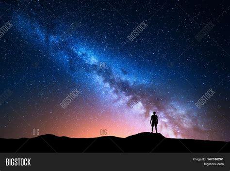 Milky Way Beautiful Image And Photo Free Trial Bigstock
