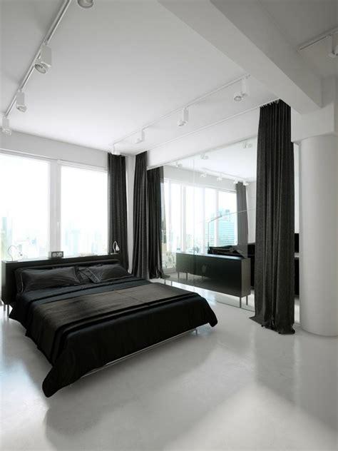 deco de chambre noir et blanc déco noir et blanc avec touches de couleur chambre à coucher