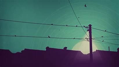 Desktop Electricity Pole Birds Illustrations Wallpapers Palapa