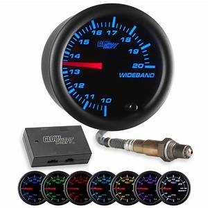 Glowshift Black 7 Color Needle Wideband Air  Fuel Ratio Afr