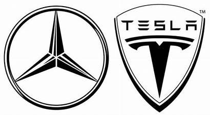 Mercedes Tesla Benz Silhouette Logos Daimler Cartype