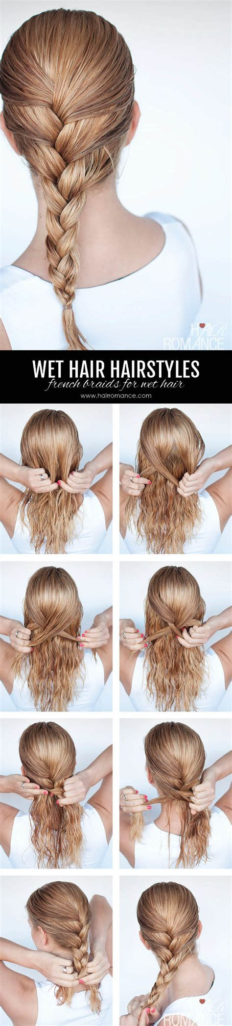 Hairstyles for wet hair: 3 simple braid tutorials you can