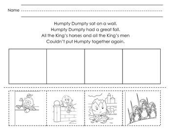 humpty dumpty sequencing humpty dumpty