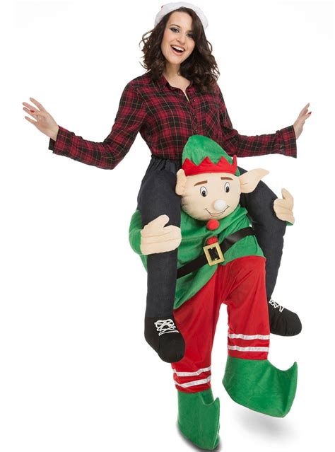 adults carry  elf costume  coolest funidelia