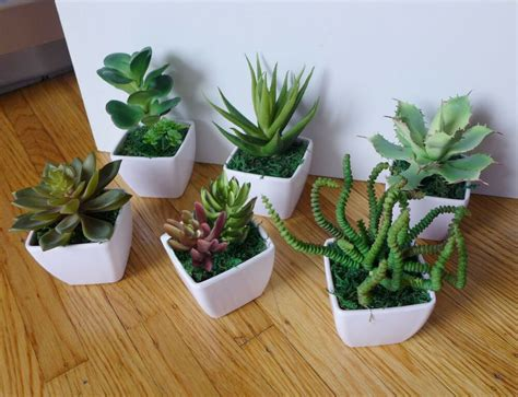Small Potted Artificial Mini Plants Home Wedding Decor