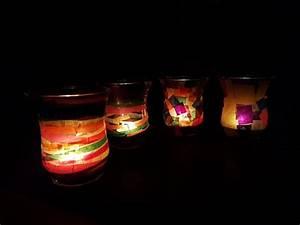 Windlichter Basteln Transparentpapier : bunte windlichter selber machen aus alten gl sern upcycling ~ Eleganceandgraceweddings.com Haus und Dekorationen