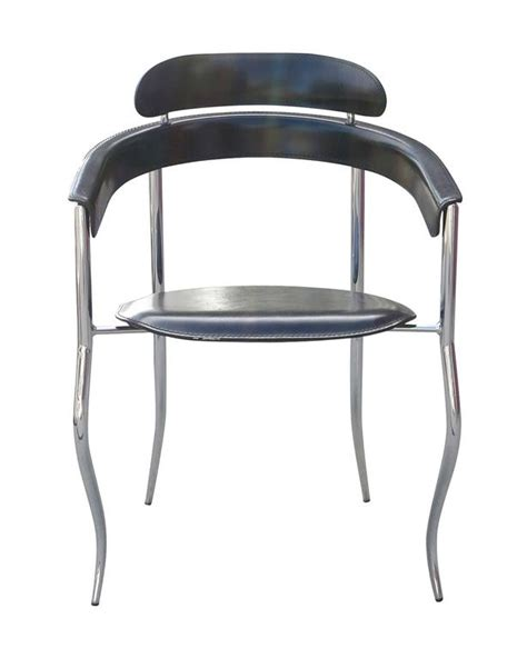 set of four stiletto architectural chairs by arrben italy