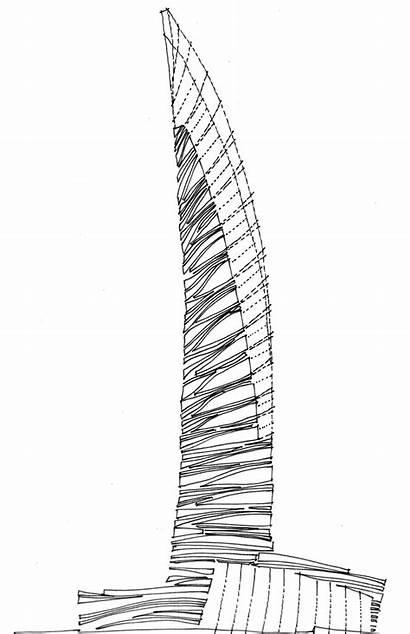 Skyscraper Architecture Concept Skyscrapers Drawing Sketch Sketches