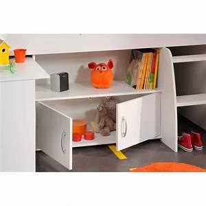 Lit Enfant Combiné : lit combin et bureau enfant milo matelpro ~ Farleysfitness.com Idées de Décoration