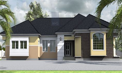 bedroom house layout plan  bedroom bungalow  nigeria contemporary bungalow design