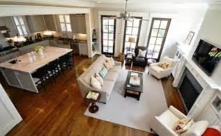 open floor plan kitchen and living room design trend open concept floor plan woodways