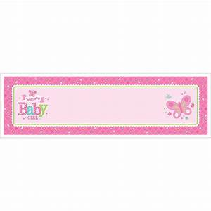 Welcome Baby Girl Personalise It! Giant Sign Banner - 12